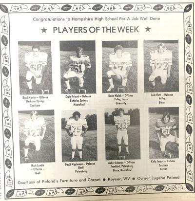 1980 Hampshire Trojan football players of the week.