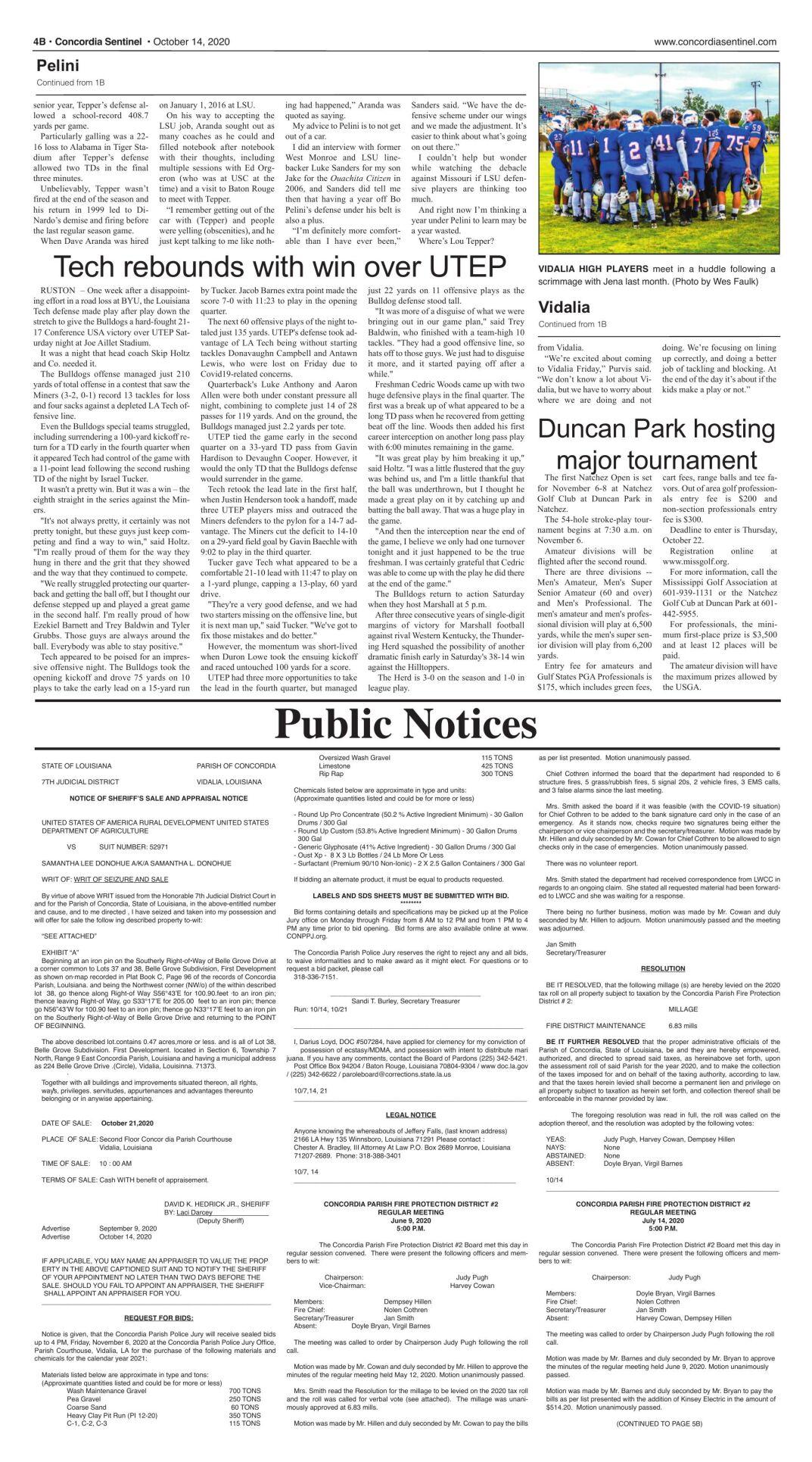 Public Notices - Oct. 14.2020