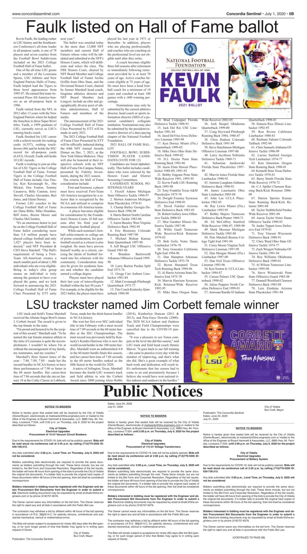 Public Notices - July 1, 2020