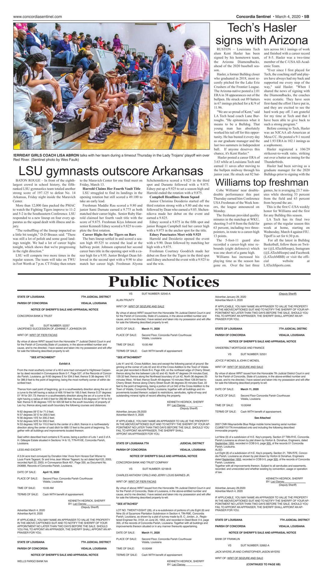 Public Notices - March 4, 2020