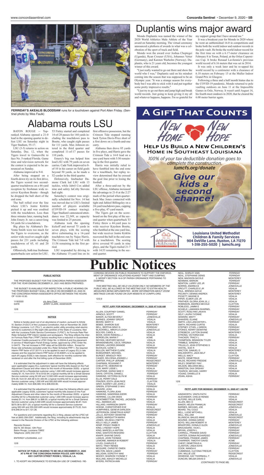 Public Notices - Dec. 9, 2020