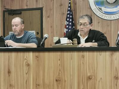Sterlington Mayor Caesar Velasquez and Town Councilman Matt Talbert, at left.jpg