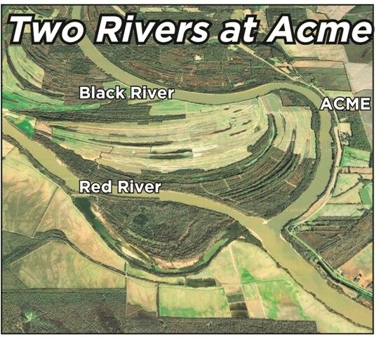 Two rivers at Acme[