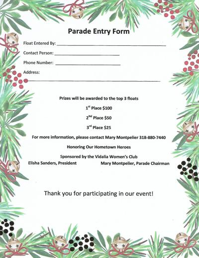 Christmas Parade Entry Form