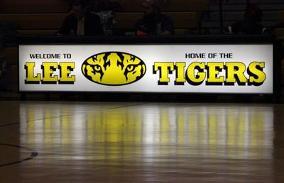 Lee Junior High Basketball sign