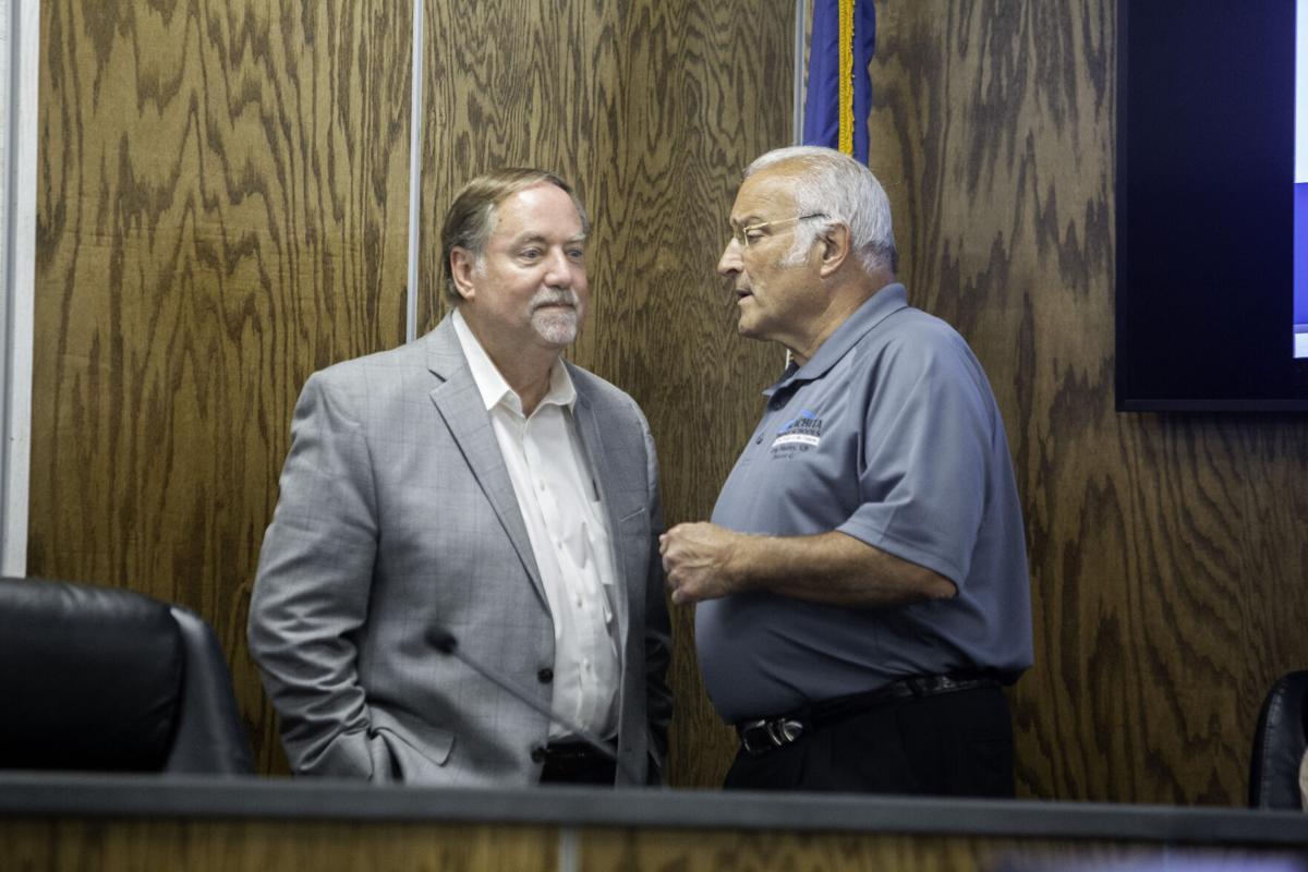 Superintendent Don Coker and School Board member Greg Manley.jpg