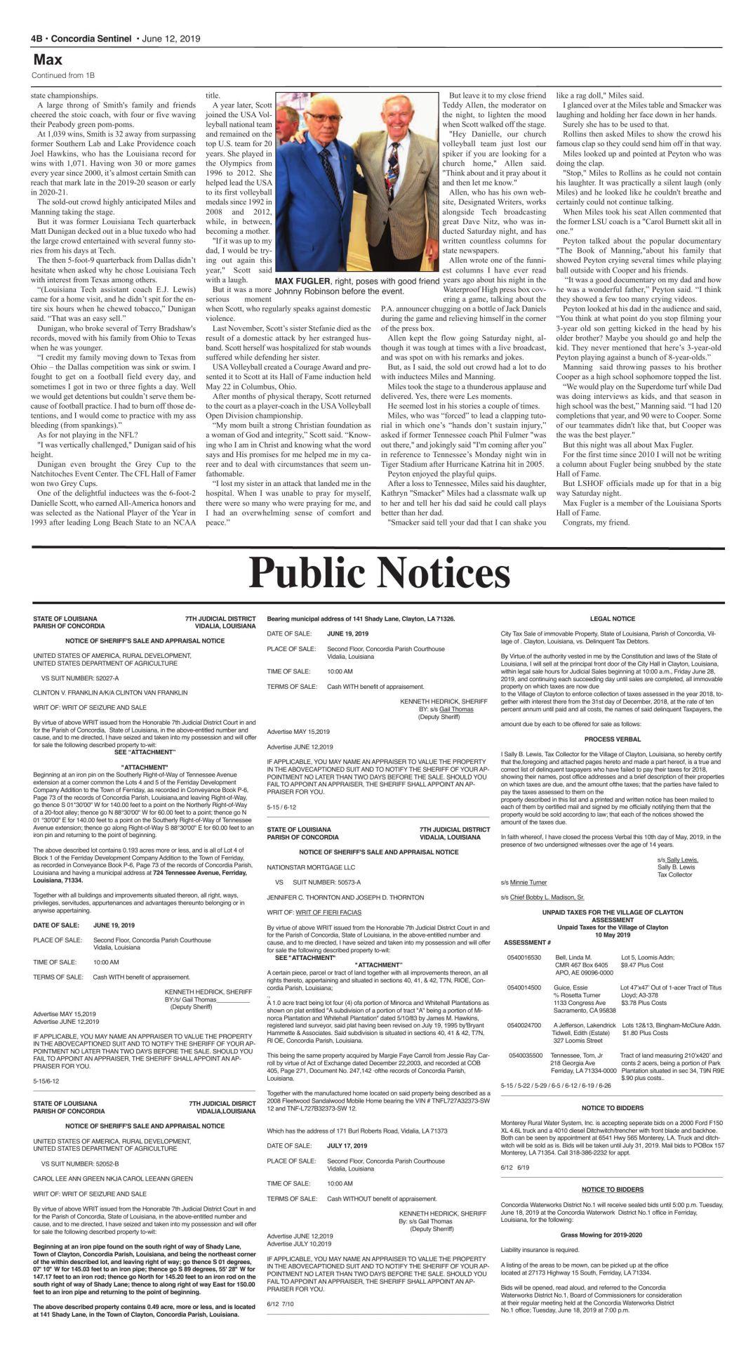 Public Notices - June 12, 2019