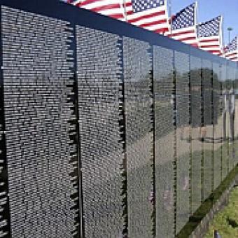 Vietnam Memorial Wall replica
