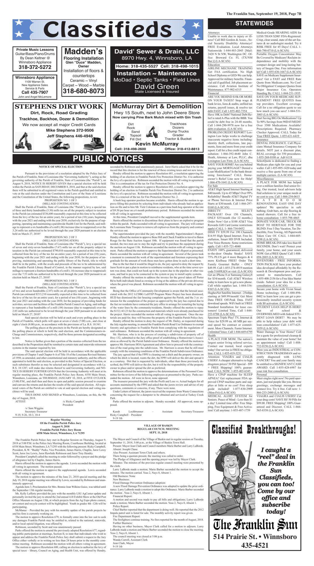 9-19 PUBLIC NOTICES