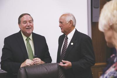 Superintendent Don Coker and OPSB President Jerry Hicks
