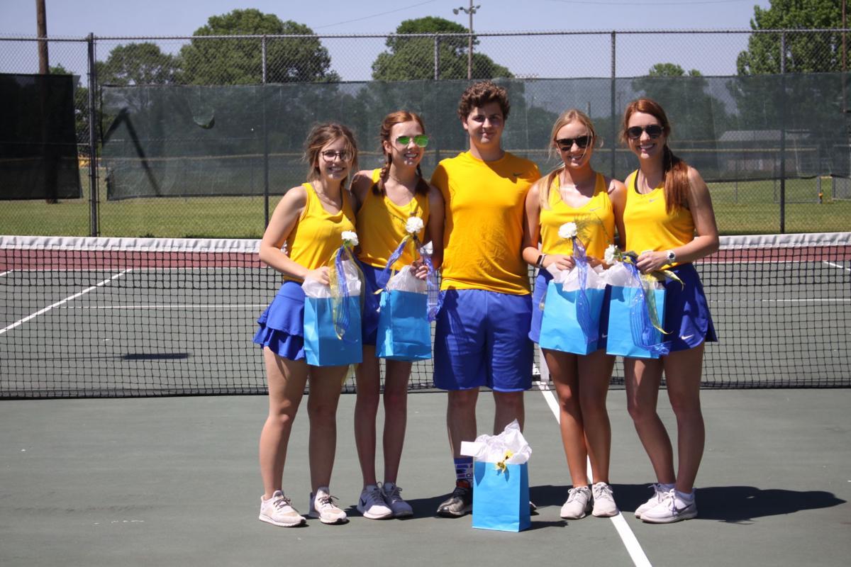 Franklin Academy senior tennis players