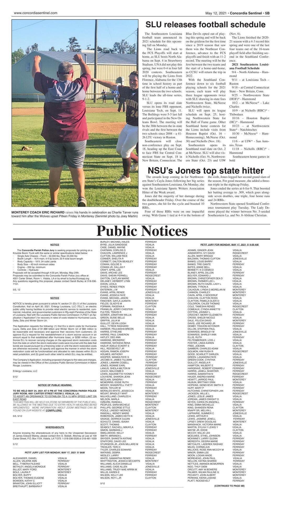Public Notices - May 12, 2021