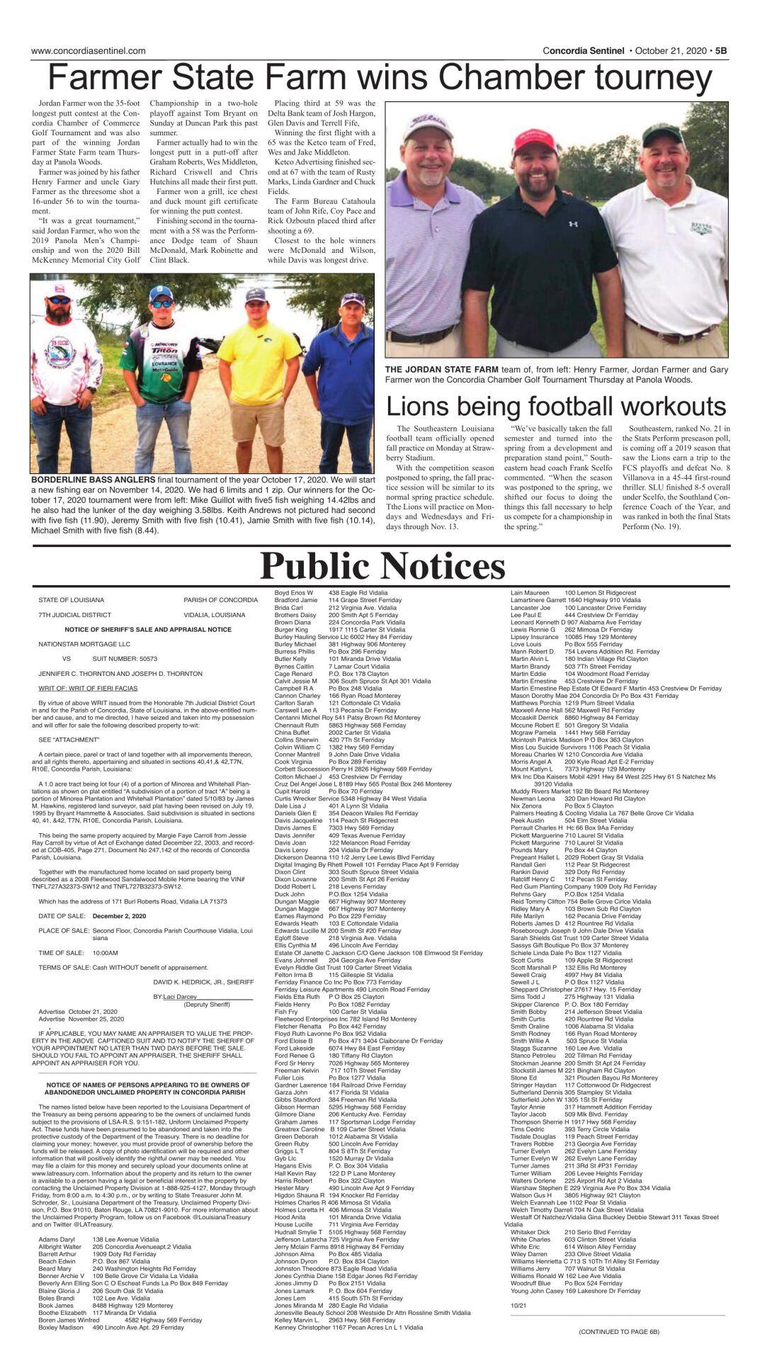 Public Notices - Oct. 21, 2020