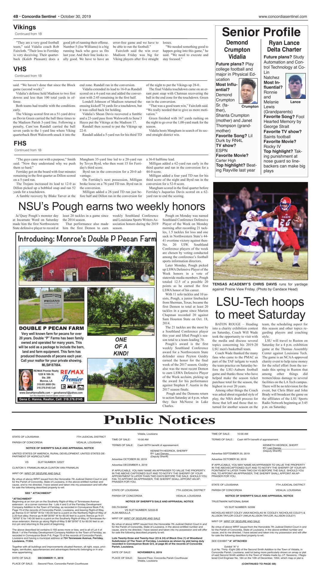 Public Notices - Oct. 30, 2019