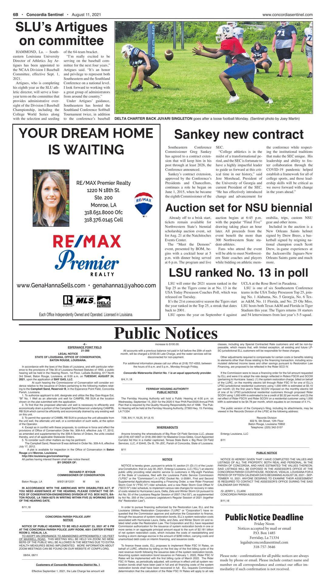 Public Notices - August 11, 2021