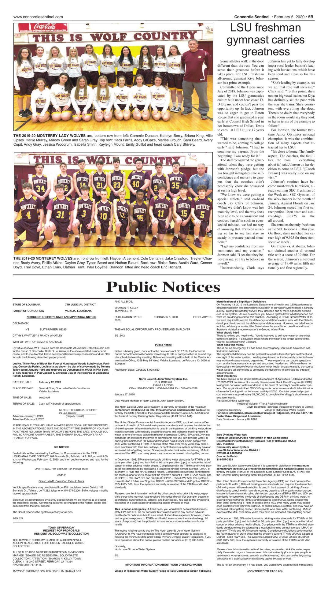 Public Notices - Feb. 5, 2020