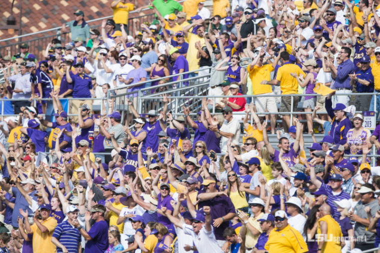 LSU Fans pack Alex Box Stadium