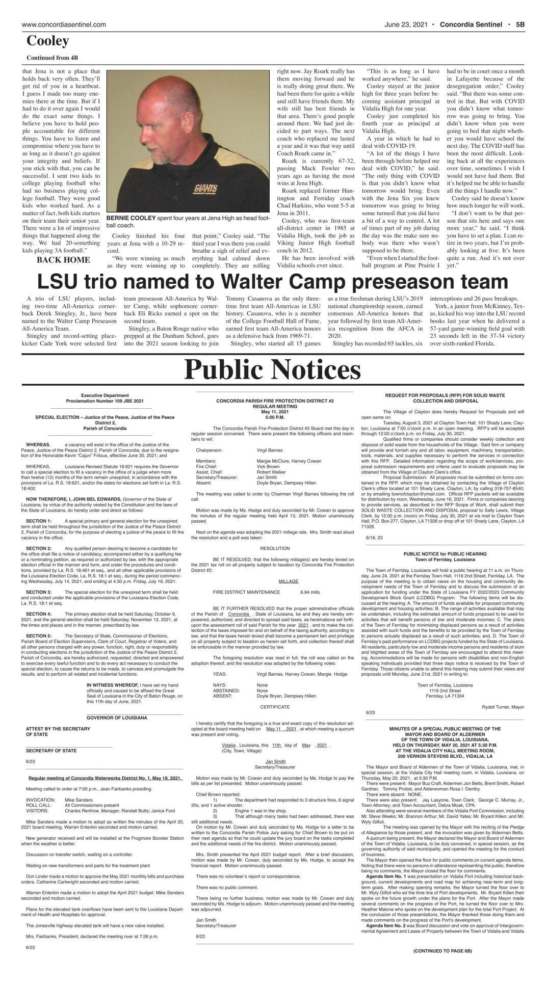 Public Notices - June 23, 2021
