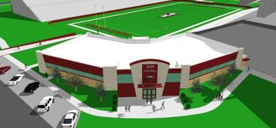 ULM's new football facility rendering