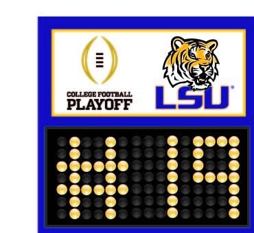 LSU ranked 19th in the latest College Football Playoff Commitee rankings (October 28, 2014)