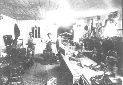 Frank Morris' shoe shop