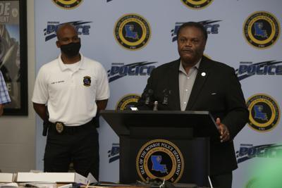 Mayor Jamie Mayo and Interim MPD Chief Reggie Brown.JPG