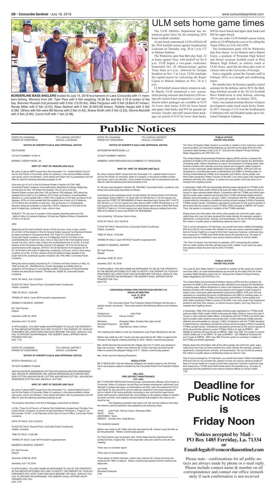 de43103c5e6f Public Notices - July 18