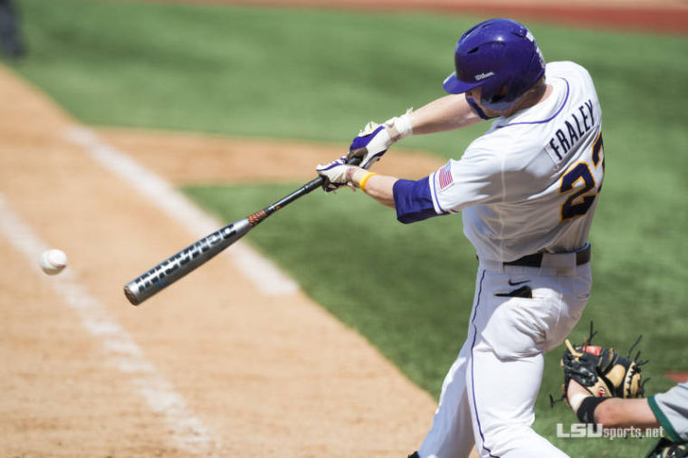 LSU leftfielder Jake Fraley
