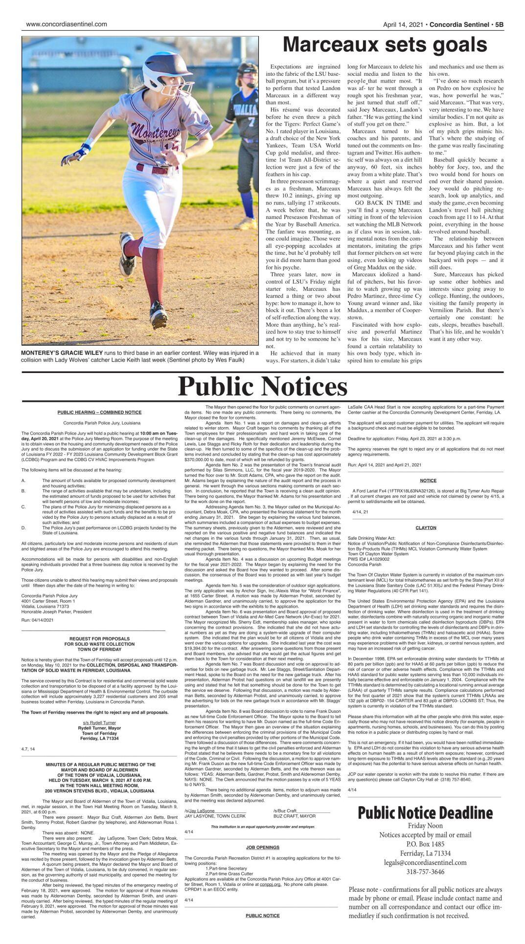 Public Notices - April 14, 2021