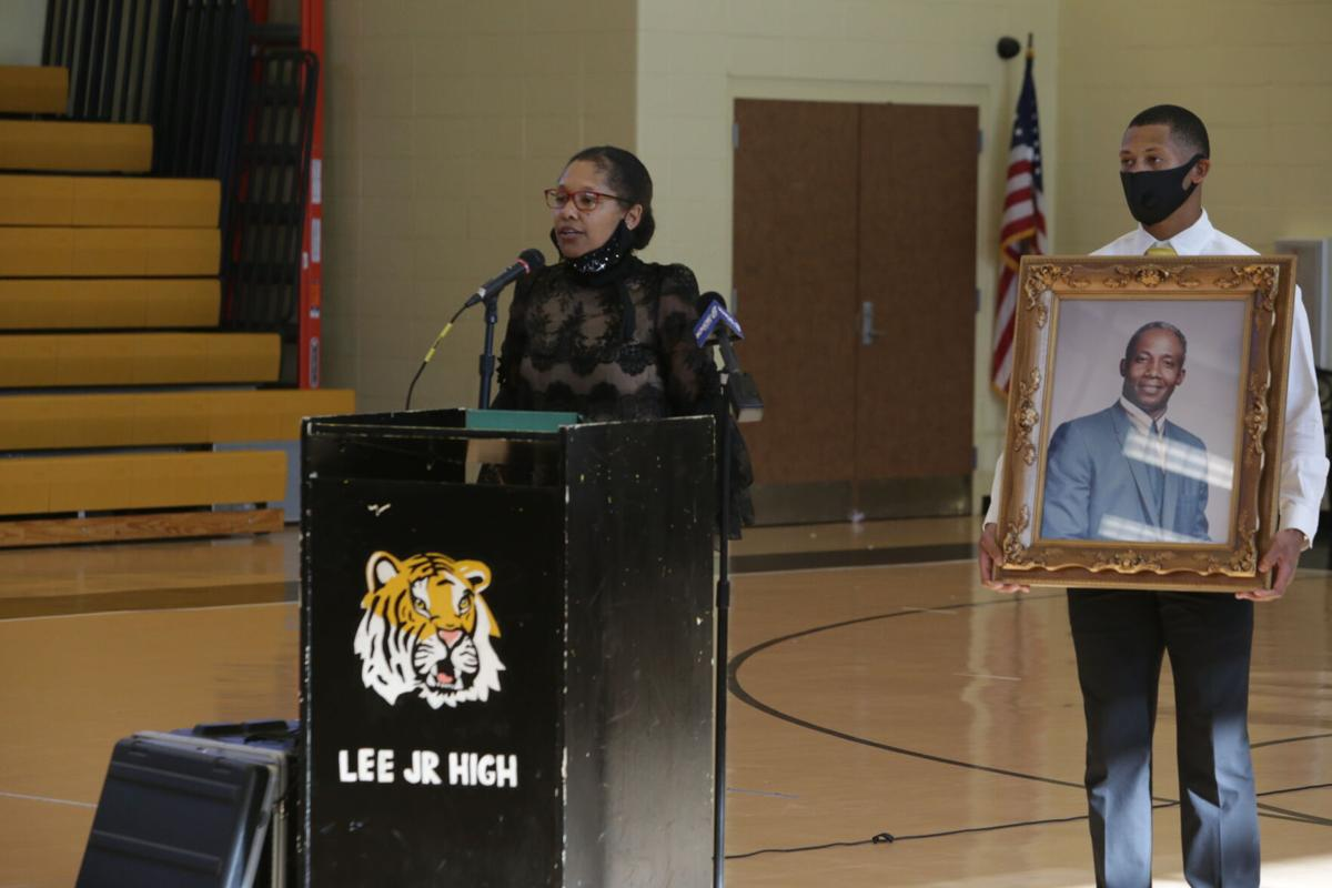 Lee Junior High renaming meeting_Natalie Stevenson advocates for naming school after MH Williams.JPG