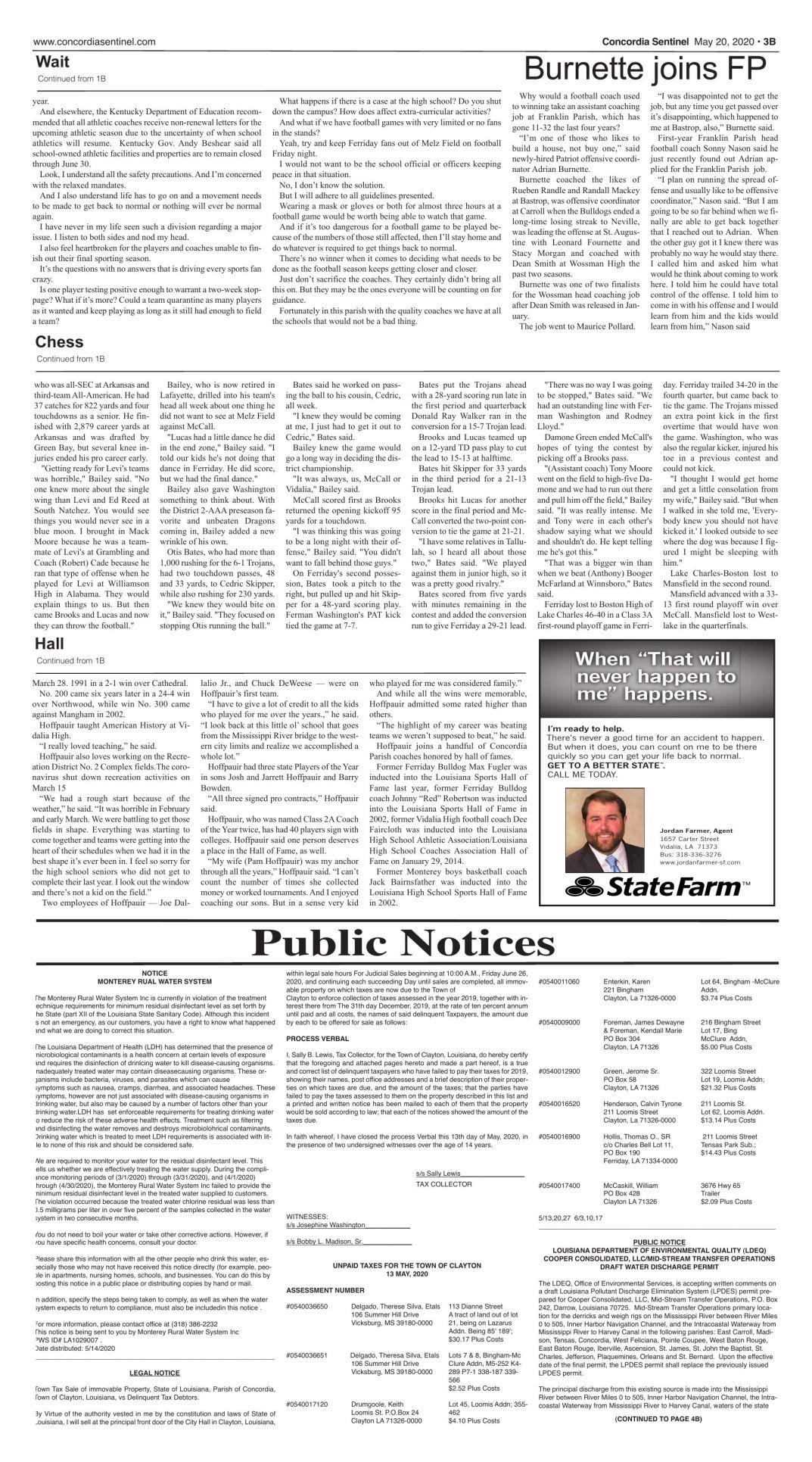 Public Notices - May 20, 2020
