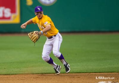 LSU shortstop Alex Bergman