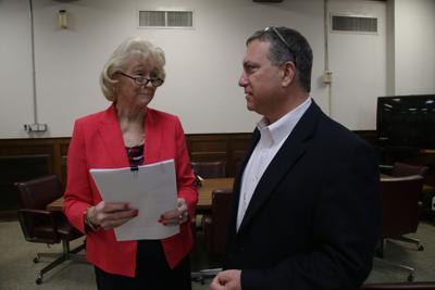 Kay Kellogg Katz and Ouachita Parish Police Jury treasurer Brad Cammack.JPG