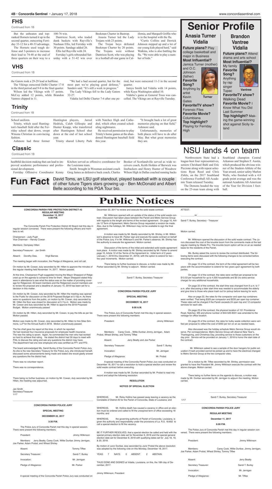 Public Notices - Jan. 17, 2018