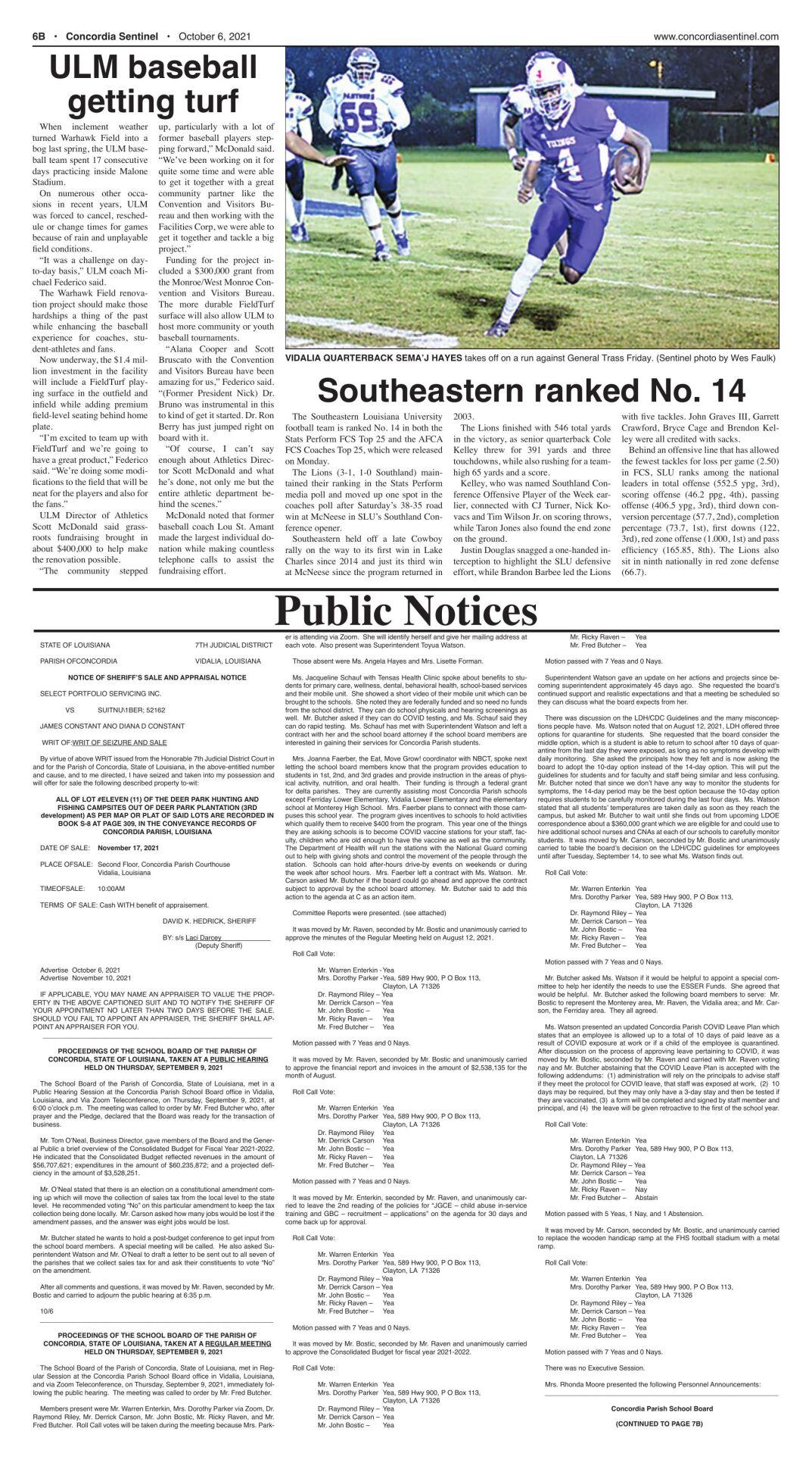 Public Notices - October 6, 2021