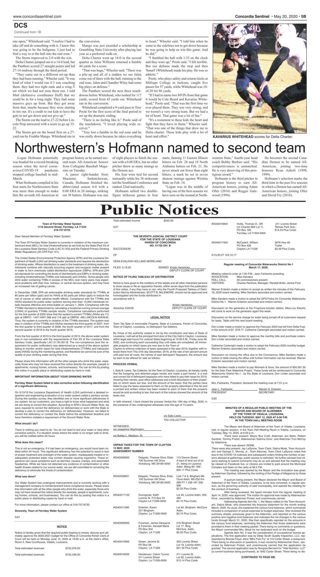 Public Notices - 5.27.20