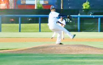 Jackson State University Tigers' pitcher Vincent Anthonia