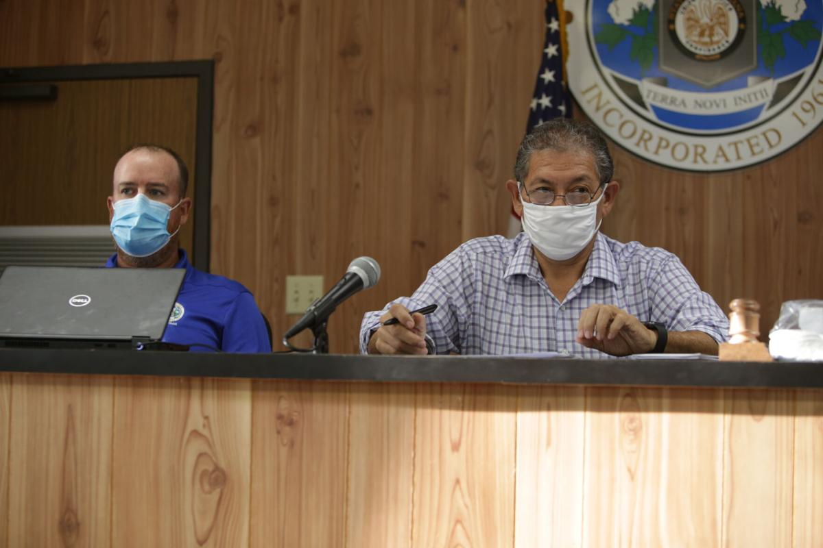 Mayor Caesar Velasquez and Town Councilman Matt Talbert.JPG