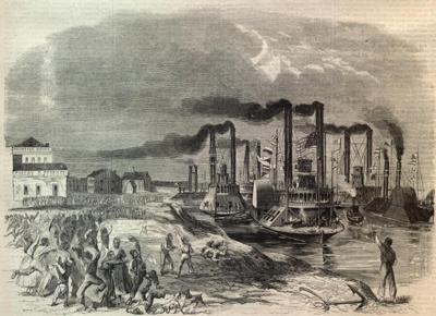 Union gunboats