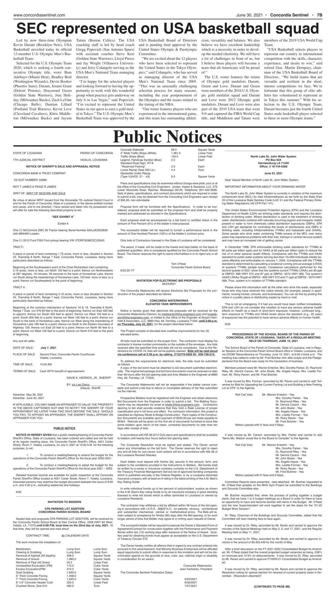 Public Notices - June 30, 2021