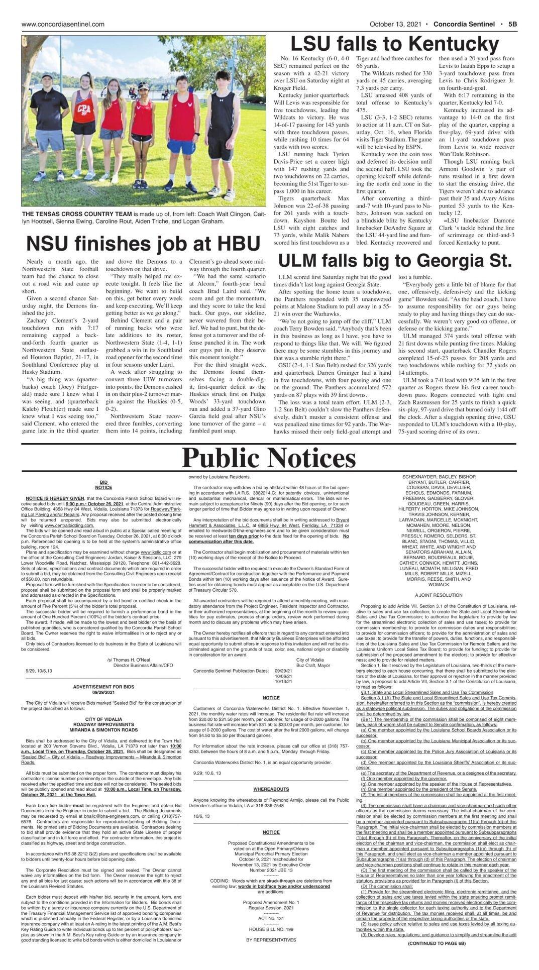 Public Notices - October 13, 2021