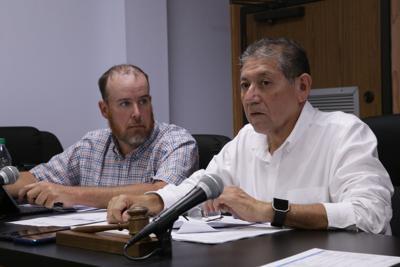 Sterlington Mayor Caesar Velasquez and Town Council member Matt Talbert.JPG