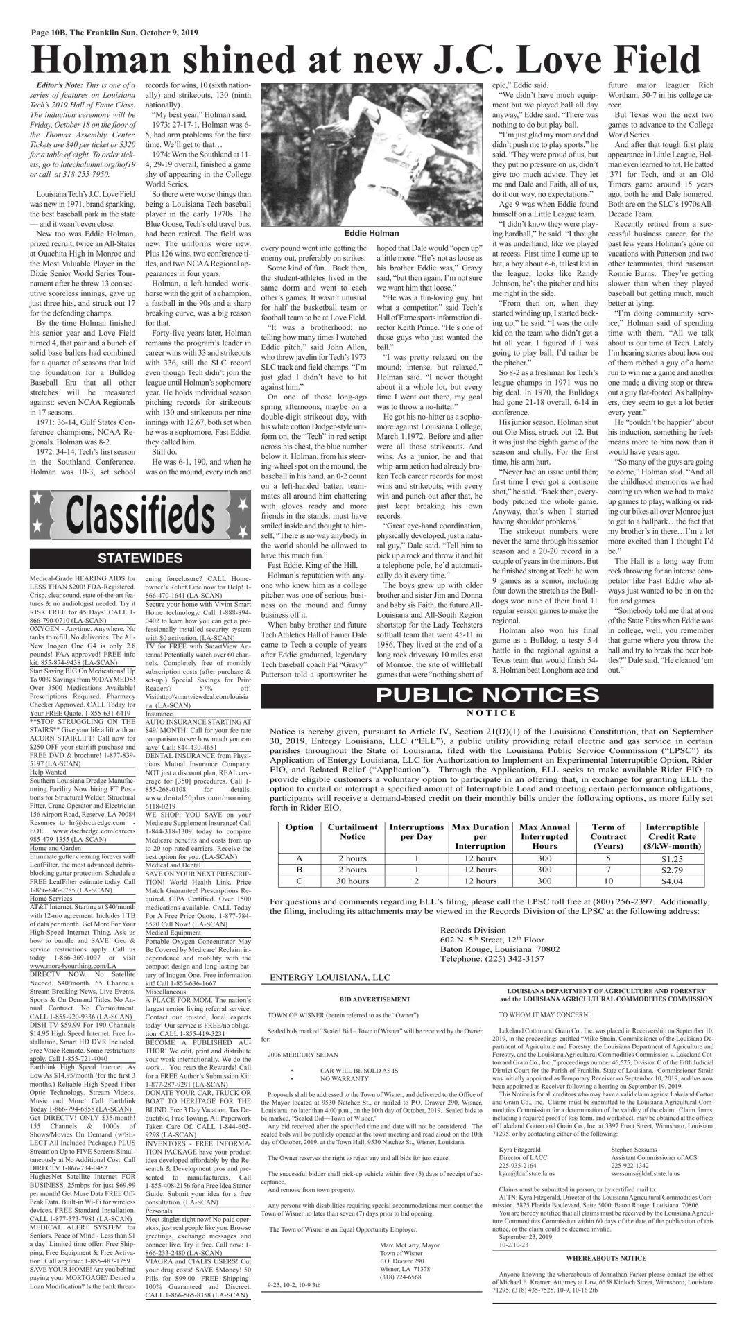10-9 PUBLIC NOTICES