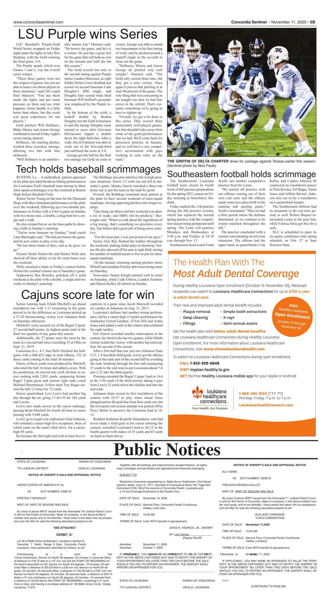 Public Notices - Nov. 11, 2020