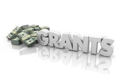 Grants Money Financial Support Endowment Word 3d Illustration