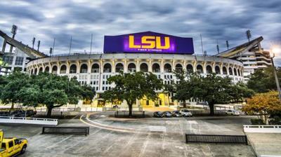 """LSU's """"Death Valley"""" Tiger Stadium"""