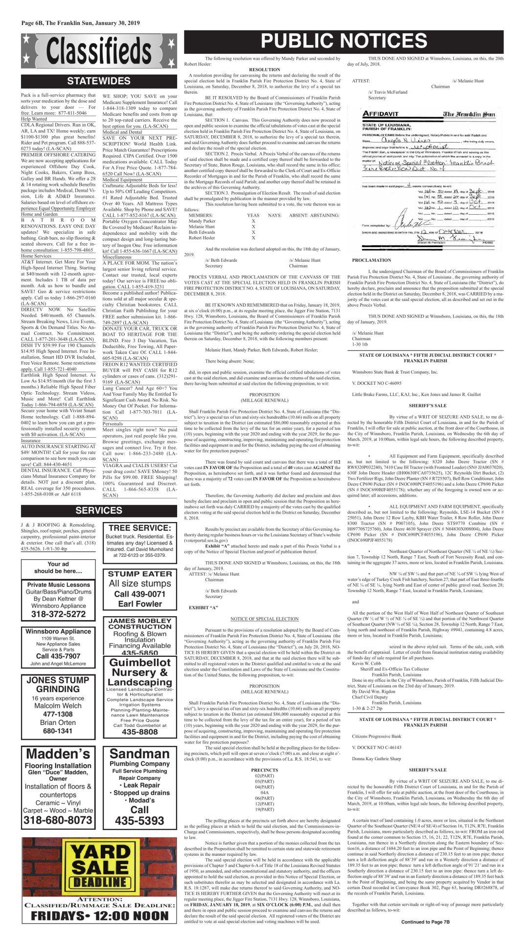 1-30 PUBLIC NOTICES