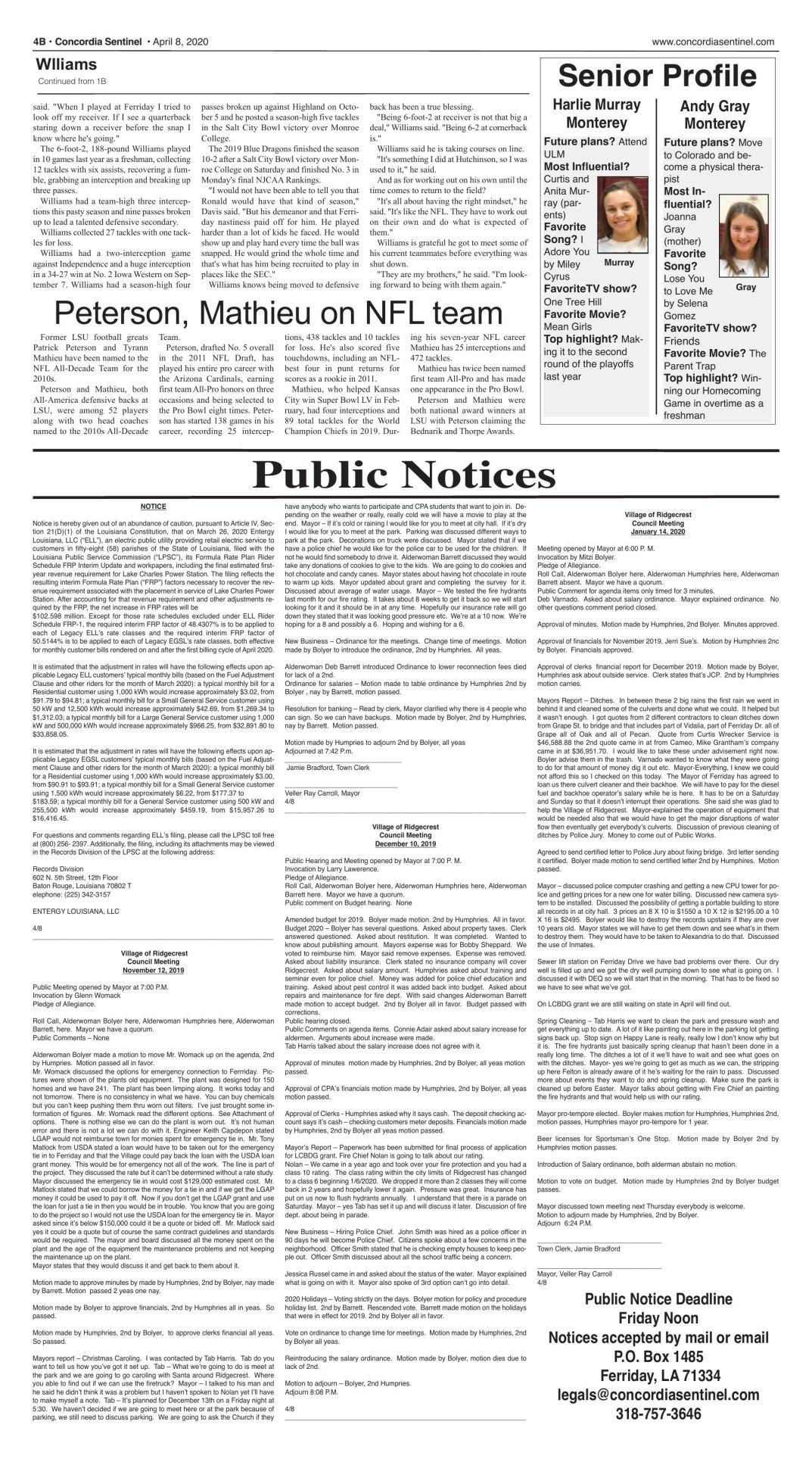 Public Notices - April 8, 2020