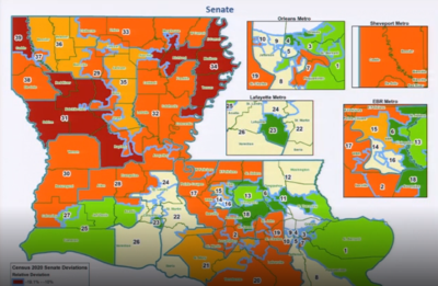 Map of State Senate Districts after 2020 Census