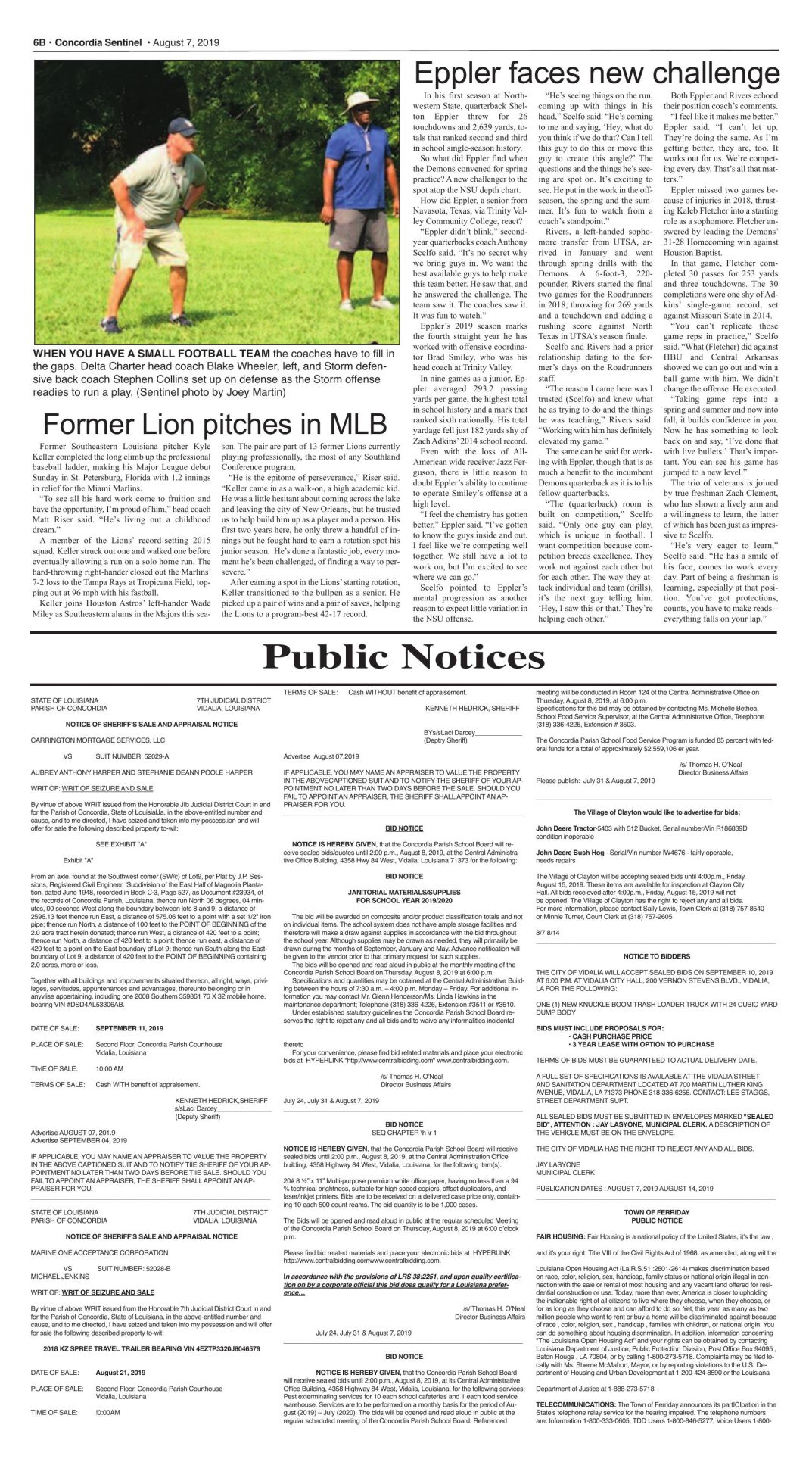 Public Notices - August 7, 2019
